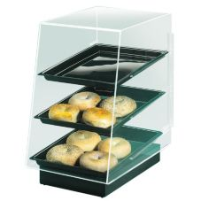 "Cal-Mil 816 Black 11.5 x 17 x 17"" Pedestal Display with 3 Trays"
