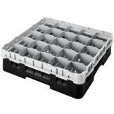 "Camrack 25S318110 Black 3-5/"" Full Glass Rack w/ Extenders - 5 / CS"