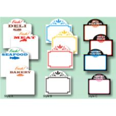 "Style A Fresh Meat Write-On / Wipe-Off Tag, 3-1/2"" x 3-3/8"""