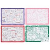Hoffmaster® 9-3/4 x 14 Children's Color Me Print Placemat