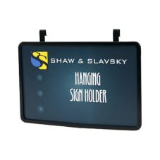 "Shaw & Slavsky C7X11B Black 7"" x 11"" Horizontal Hanger Sign Holder"