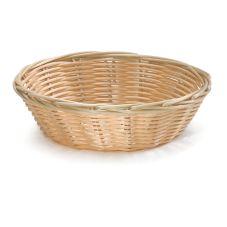 """TableCraft 1177W 7"""" x 2"""" Hand-Woven Plastic Basket - Dozen"""