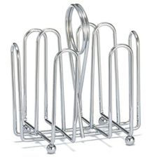 Tablecraft 597C Chrome Plated Wire Jelly Packet Rack for 20 Packs