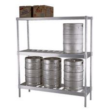 New Age Industrial NS933 Aluminum 6 Keg Capacity Beer Keg Rack