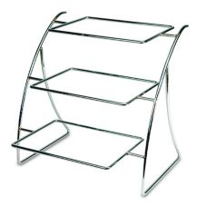 Delfin 18-1/2x18x18-1/2 in. 3-Tier Solid Rolled Steel Element Display