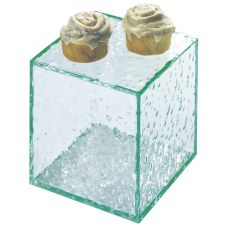 "Cal-Mil® 8"" x 8"" x 8"" Enclosed Faux Glass Riser"