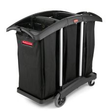 "Rubbermaid® FG9T9200BLA 52"" Triple Capacity Cleaning Cart"