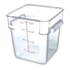Carlisle Foodservice Clear Square 8 qt Container