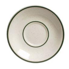"Tuxton® TES-002 Emerald 6"" Eggshell Saucer Coupe - 36 / CS"