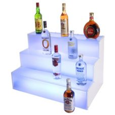 Gourmet Display® LQ31 Illuminated Liquor 3-Step Staircase Display