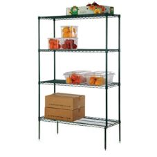 "Focus Foodservice Green Epoxy 4-Shelf 18"" x 36"" Shelving Kit"