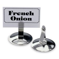 "Vollrath® 46794 Stainless Steel 2-1/4"" Menu / Card Holder"