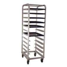 "New Age 1164 Mobile Aluminum Rack for (12) 18 x 26"" Platters"