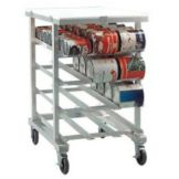 Aluminum Can Storage Rack w/ Poly Top, Holds 72 #10 Cans or 96 #5 Cans