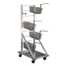 New Age Industrial 1210 Aluminum Fry Basket Cart with Drip Pan