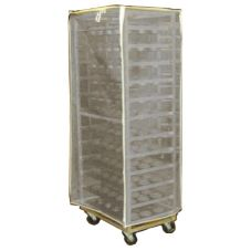 "Curtron Products SUPRO-BM-7-W 23 x 28 x 62"" White Mesh Pan Rack Cover"