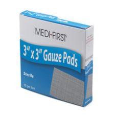 "Afassco® 414 3"" x 3"" Sterile Gauze Pads - 10 / BX"