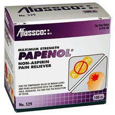 Afassco® 529 Papenol Non-Aspirin Pain Reliever - 100 / BX