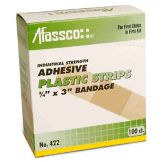 Afassco® 422 Sterile Plastic Strip Adhesive Bandage - 100 / PK