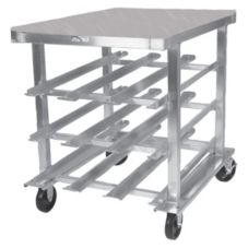Win-Holt® CR-72S/S Mobile Can Dispensing Rack with Work Table
