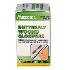 Afassco® Medium Butterfly Closure Bandages
