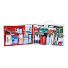 Small 2-Shelf Metal Office First Aid Kit, 10-3/4 x 4-1/2 x 10-1/2