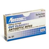 Afassco® 321 Triple Action Cut Cleaner Antiseptic Wipes - 10 / BX