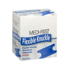 Afassco® 437 Blue Metallic Adhesive Knuckle Bandages - 50 / BX