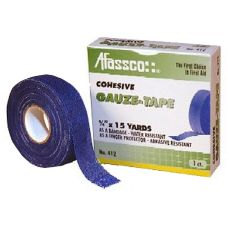 Afassco® 412 Blue Cohesive 15 Yds Gauze Tape - 1 / RL