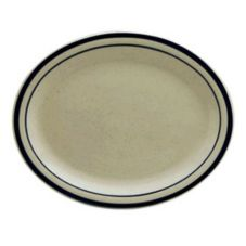 "Buffalo R4238028372 Blue Ridge Ivory NR 13-1/8""Platter  - 12 / CS"