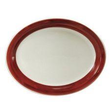 Oneida R4128079372 Jubilee Raspberry NR Oval Platter - 12 / CS