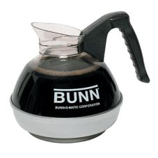 BUNN® 6100.0112 Easy Pour 64 Oz. Black Coffee Decanter - 12 / PK