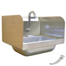 Amtekco DH18D Foot Valve Wall Mount Hand Sink with Side Splashes