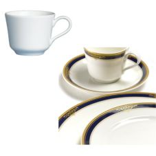 Steelite 42032372 Gold Pia Blue 2-1/2 Oz Demitasse Cup - 24 / CS