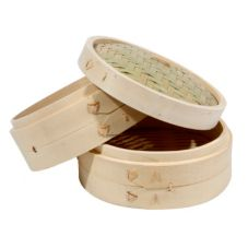 "Town Food Service 34208 8"" Bamboo Steamer Set"