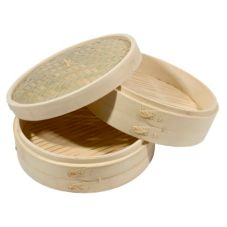 "Town Food Service 12"" Bamboo Steamer Set"
