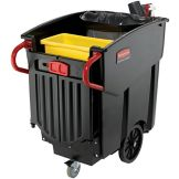 Rubbermaid Mega BRUTE® Black 120 Gal Mobile Waste Collector