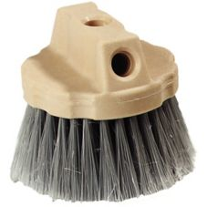 "Carlisle® 4535023 4-1/2"" Grey Round Window Brush"