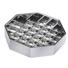 "Cal-Mil 308-4-49 4"" Chrome Standard Drip Tray - 6 / CS"