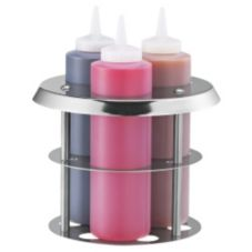 Server Products 86819 Triple Squeeze Bottle Holder With 3 Bottles
