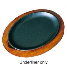 Oval Wood Underliner f/ OFSH2 Serving Griddle, 11-3/4 x 9-1/4