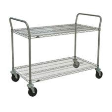 """Metro® 2SPN53ABR 24 x 36"""" Cart With 2-Super Erecta® Shelves"""