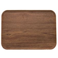 "Camtray 1622304 Country Oak 16"" x 22"" Serving Tray - 12 / CS"