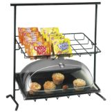 Cal-Mil® 1006 Black Iron Frame Sloped 2-Tier Display
