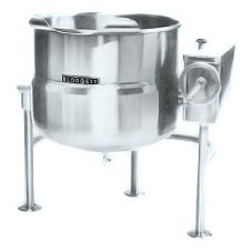 Blodgett 80 Gallon Direct Steam 3-Leg Kettle w/ Manual Tilt Mechanism