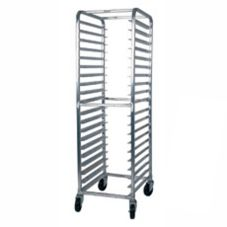 Win-Holt AL-1818B Full Height Open Sided Mobile Pan Rack for 18 Pans