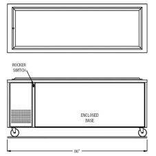 "Randell® RAN FTA-6 S/S 86"" Enclosed Base Frost Top Unit"