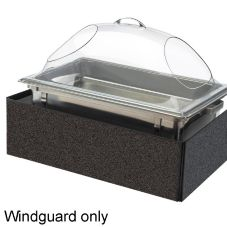 Cal-Mil 978-17 Granite Charcoal Acrylic 14 x 22.5 In Chafer Windguard