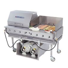 "Bakers Pride CBBQ-60S-CP 60"" Outdoor Chrome Plated Charbroiler"