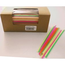 "Cell-O-Core 68170210 8"" Assorted Colors Stir Straws - 5000 / CS"